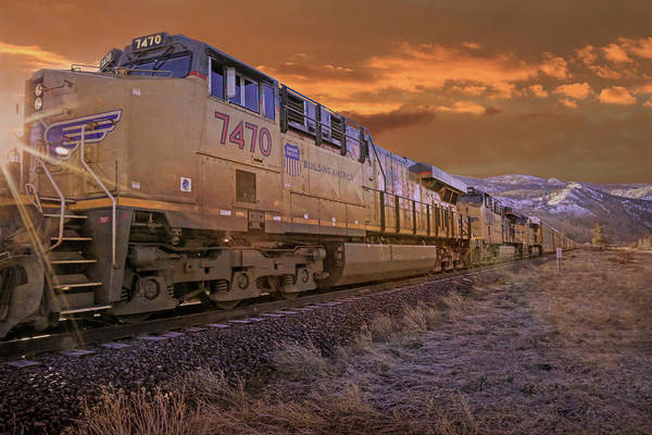 Union Pacific Railroad Wall Art - Photograph - Guiding Light by Donna Kennedy