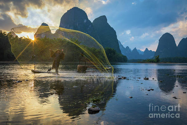 Wall Art - Photograph - Guilin Net by Inge Johnsson