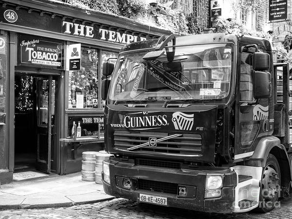 The Keg Photograph - Guinness Delivery At The Temple Bar Dublin by John Rizzuto