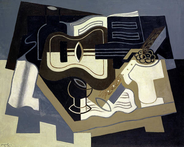 Wall Art - Painting - Guitar And Clarinet by Juan Gris