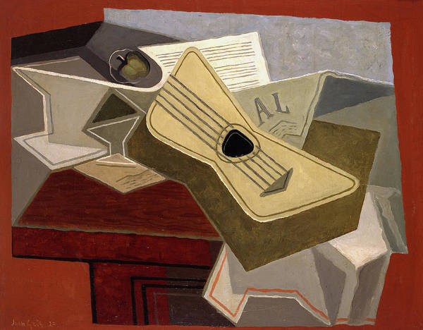 Wall Art - Painting - Guitar And Newspaper, 1925 by Juan Gris
