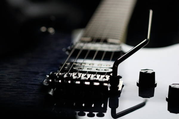 Photograph - Guitar And Reflections by Angela Murdock