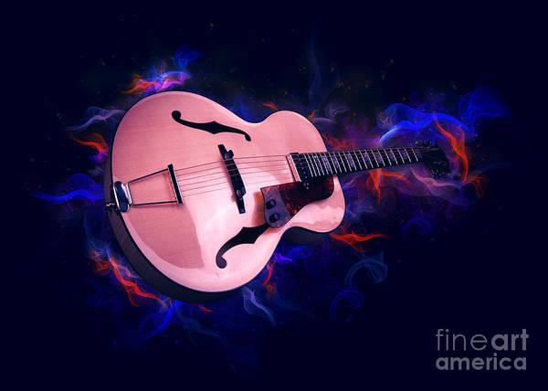 Digital Art - Guitar Art by Ian Mitchell