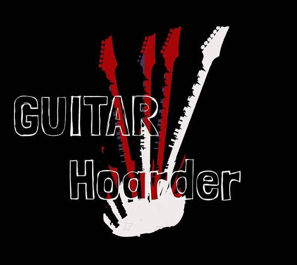 Digital Art - Guitar Hoarder by Guitar Wacky