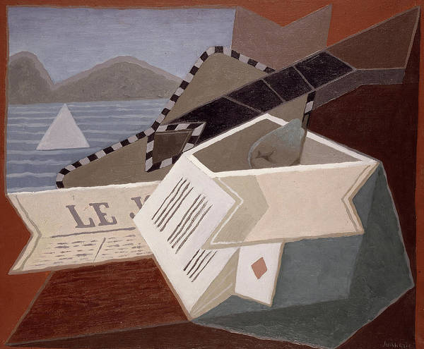 Wall Art - Painting - Guitar In Front Of The Sea, 1925 by Juan Gris
