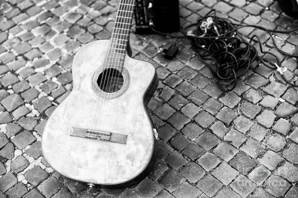 Photograph - Guitar In Piazza Navona Roma by John Rizzuto