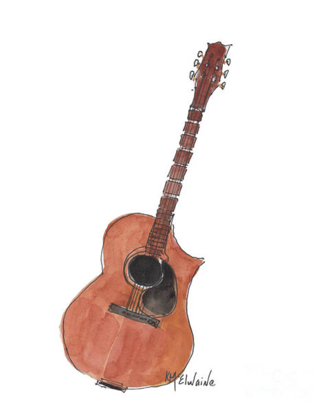 Painting - Guitar by Kathleen McElwaine