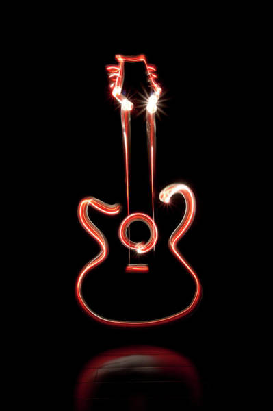 Light Photograph - Guitar by Mxing Photography
