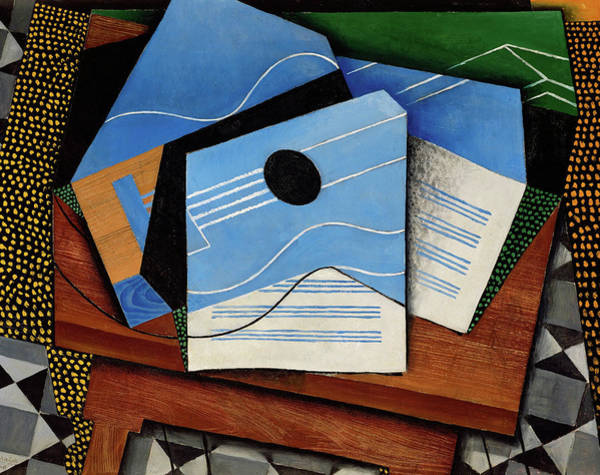 Wall Art - Painting - Guitar On A Table, 1915 by Juan Gris