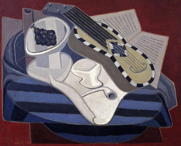 Wall Art - Painting - Guitar With Inlays, 1925 by Juan Gris