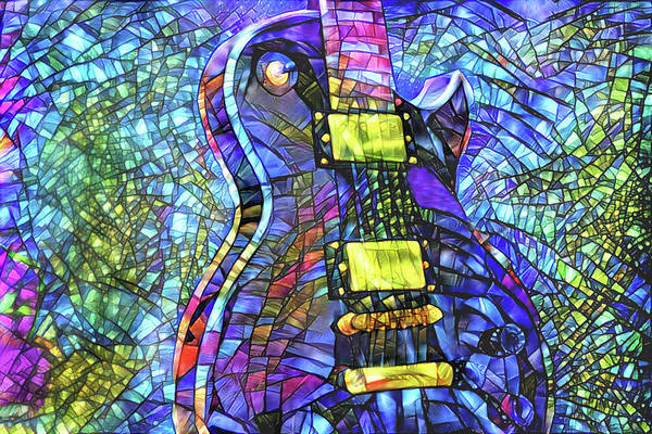 Digital Art - Guitar Worship by Peggy Collins