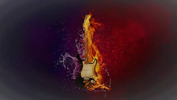 Liquid Digital Art - Guitarhythm by ArtMarketJapan