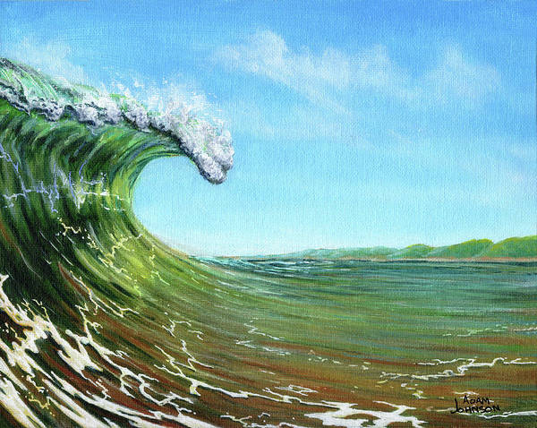 Painting - Gulf Of Mexico Surf by Adam Johnson