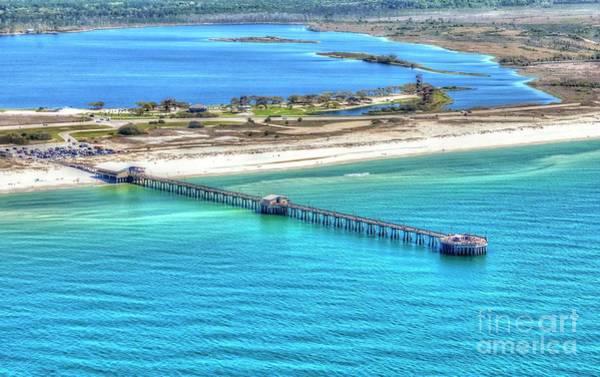 Photograph - Gulf State Park Pier 7464p3 by Gulf Coast Aerials -