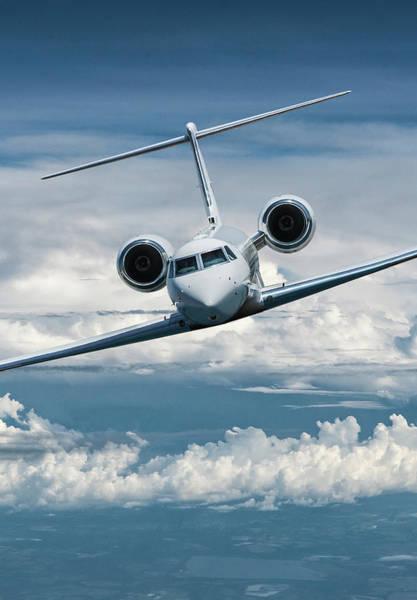 Business Mixed Media - Gulfstream V Business Jet by Erik Simonsen