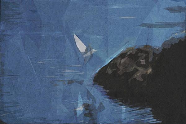 Wall Art - Digital Art - Gull Bird Fauna Seagull Rocks by Draw Sly