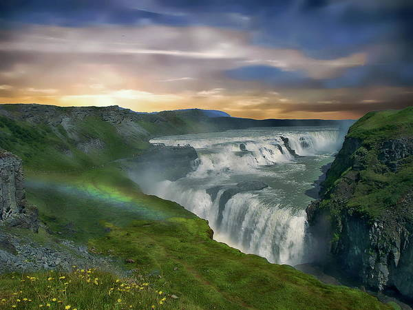 Photograph - Gullfoss Waterfall by Anthony Dezenzio
