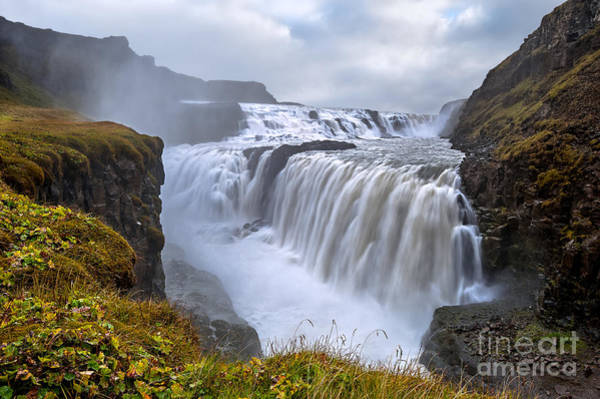 Freshness Wall Art - Photograph - Gullfoss. Waterfall Located In The by Thomas Lusth