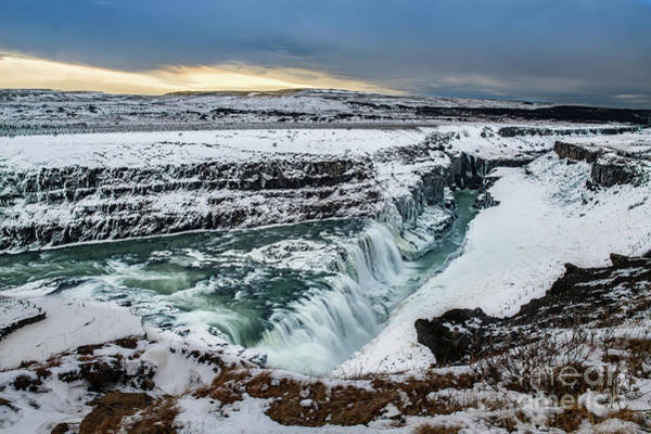 Wall Art - Photograph - Gullfoss Winter by Jamie Pham