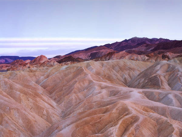 Physical Features Wall Art - Photograph - Gullies And Mud Hills With Mountains In by Thomas Northcut