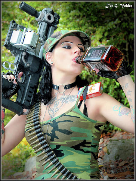 Photograph - Gun Smoking Mouth Wash by Jon Volden