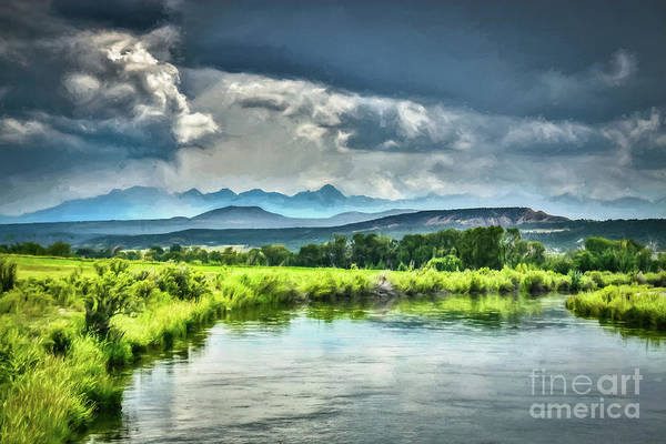 Photograph - Gunnison River And The San Juan Mountain Range by Janice Pariza