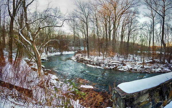 Kingsville Photograph - Gunpowder Falls Pano From The Covered Bridge by Brian Wallace