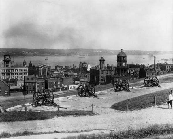 Wall Art - Photograph - Guns At Halifax by Fox Photos