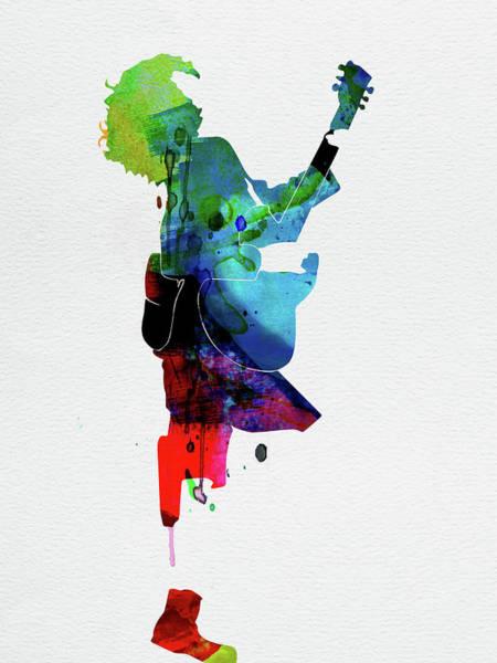Band Digital Art - Guns Watercolor by Naxart Studio