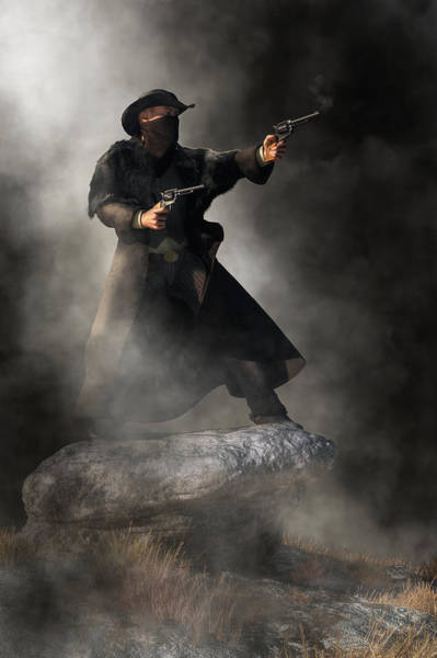 Digital Art - Gunslinger by Daniel Eskridge