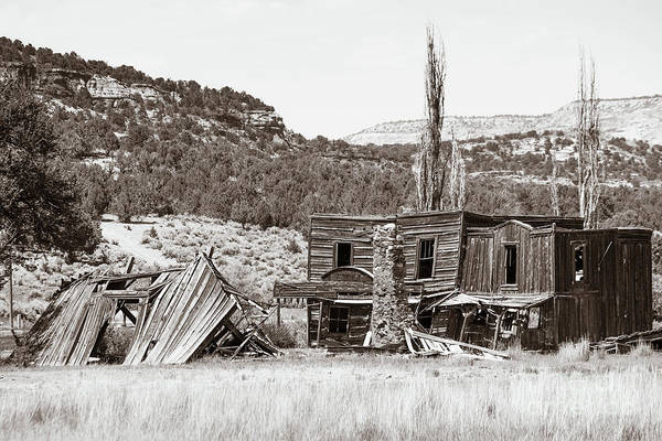 Wall Art - Photograph - Gunsmoke Tv Series Dodge City Set In Kanab Utah by Edward Fielding
