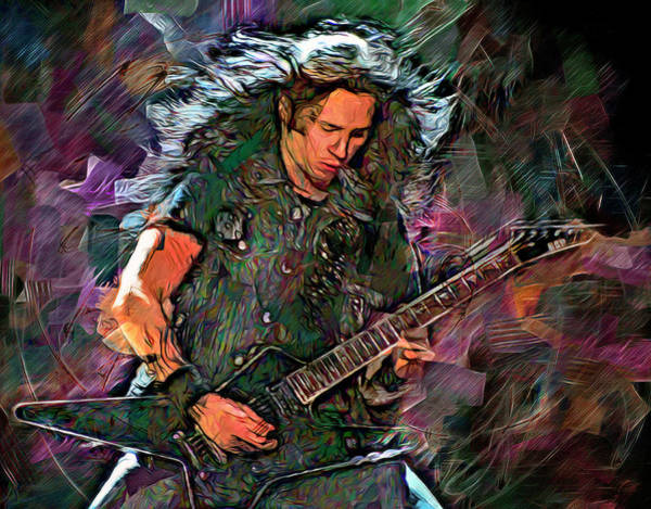 Thrash Metal Wall Art - Mixed Media - Gus G by Mal Bray