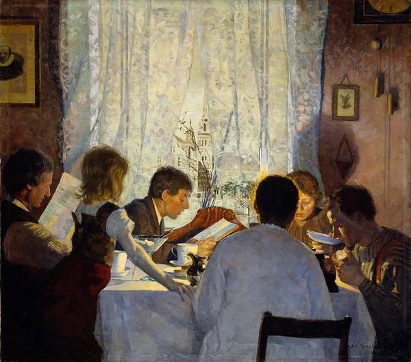 Wall Art - Painting - Gustav Wentzel - Morning Mood 1885 by Gustav Wentzel