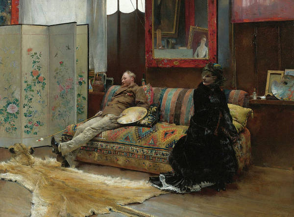 Wall Art - Painting - Gustave Courtois In His Studio by Pascal Dagnan-Bouveret