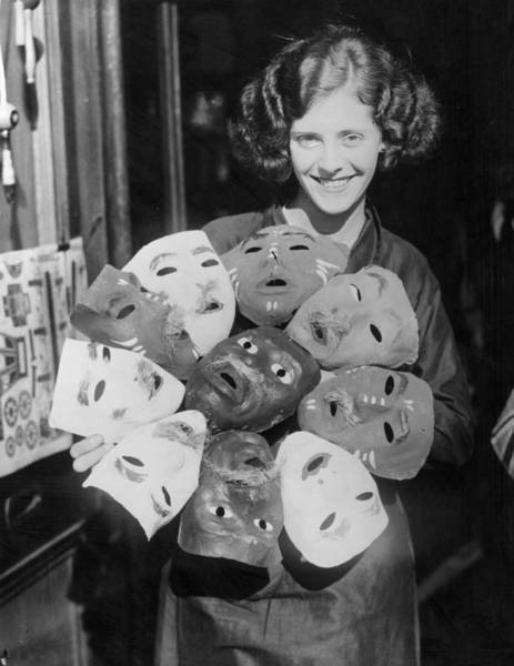 Toothy Smile Photograph - Guy Fawkes Masks by William Vanderson