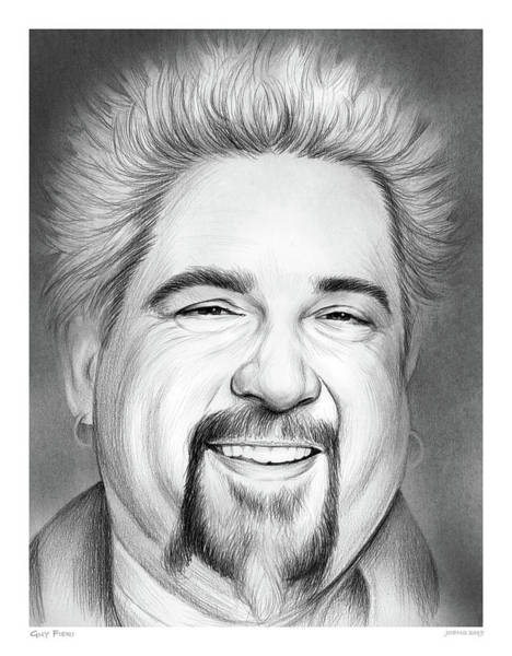 Wall Art - Drawing - Guy Fieri by Greg Joens