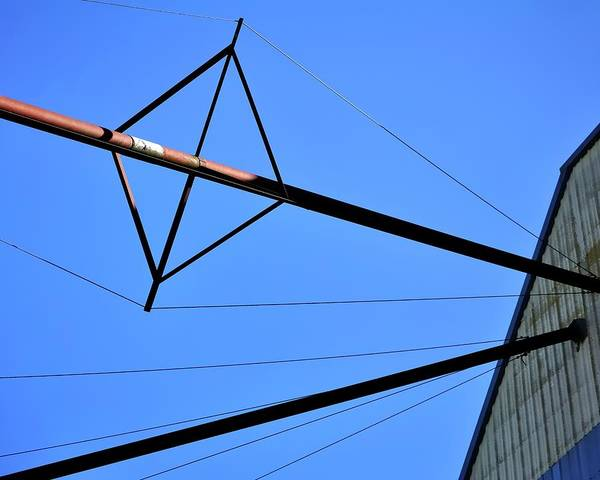 Photograph - Guy-wires by Jerry Sodorff