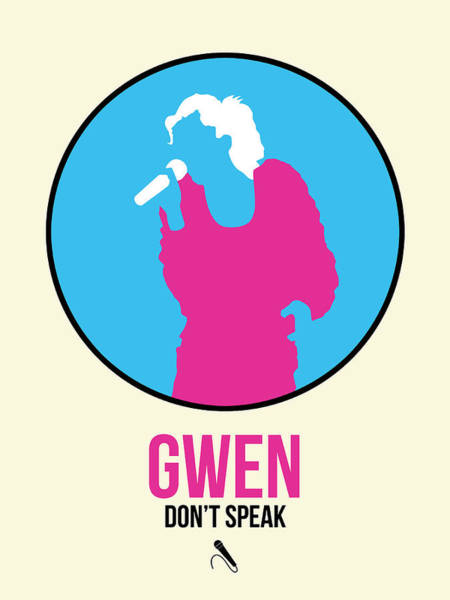 Hard Rock Wall Art - Digital Art - Gwen Poster II by Naxart Studio