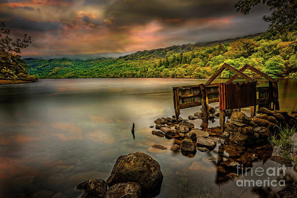 Wall Art - Photograph - Gwynant Lake Old Boat House by Adrian Evans