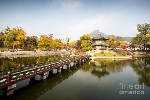 Wall Art - Photograph - Gyeongbokgung Palace And Its Grounds On by Filedimage