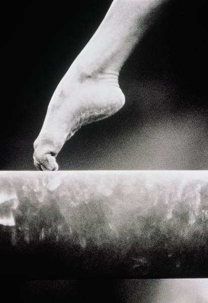 Teenager Photograph - Gymnastics, Girls Foot On Balance Beam by David Madison