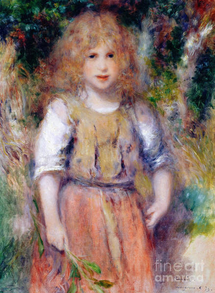 Wall Art - Painting - Gypsy Girl, 1879 by Pierre Auguste Renoir