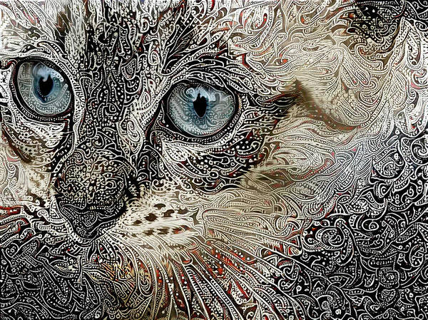 Digital Art - Gypsy The Siamese Kitten by Peggy Collins