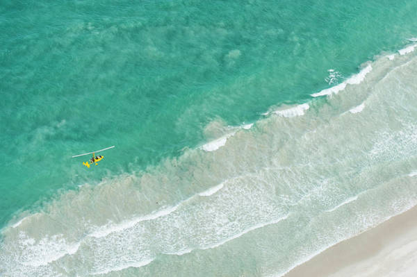 Hoop Photograph - Gyro-copter Flight Along The Coastline by Peter Chadwick