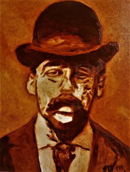 Serial Killer Painting - H. H. Holmes by Matthew McClain