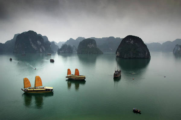 Mountain Photograph - Ha Long Bay by Copyright Mark Keelan