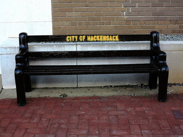 Photograph - Hackensack, Nj - Main Street Bench 2018 by Frank Romeo