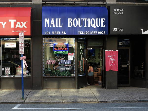 Photograph - Hackensack, Nj -  Nail Shop 2018 by Frank Romeo