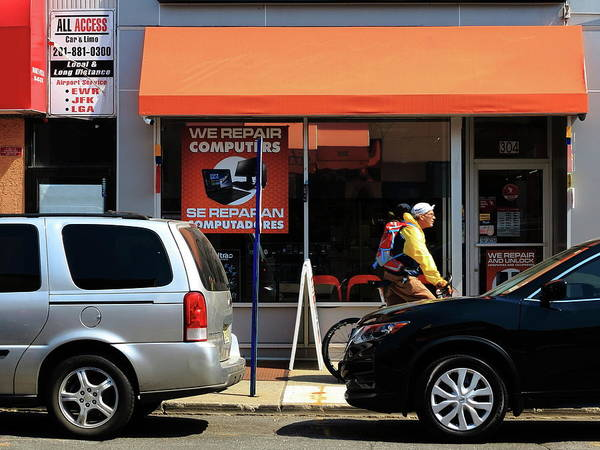 Photograph - Hackensack, Nj - Orange Storefront by Frank Romeo