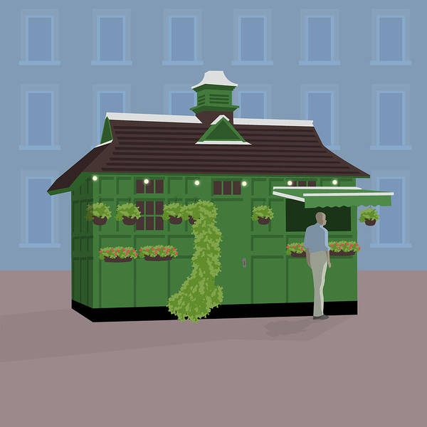 Wall Art - Digital Art - Hackney Carriage Hut, Russell Square by Claire Huntley